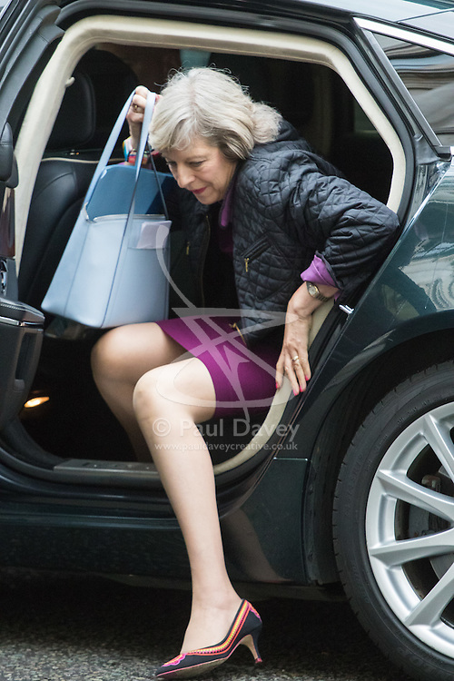 Downing Street, London, June 14th 2016. Home Secretary Theresa May arrives at 10 Downing Street to attend the weekly cabinet meeting.