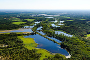 Nederland, Noord-Brabant, Valkenswaard, 23-08-2016; visvijvers, (voormalige) viskwekerij.<br /> Fish breeding bassins of former fish farm in the south of Netherlands.<br /> aerial photo (additional fee required); <br /> luchtfoto (toeslag op standard tarieven);<br /> copyright foto/photo Siebe Swart