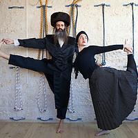 Rachel and Avraham Kolberg, an Ultra Orthodox Jewish couple, train and teach Yoga at the studio in their house in Ramat Beit Shemesh.