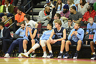 Shawnee players sit on the bench after losing to Linden in the New Jersey Group 4 State Championship game Sunday March 12, 2017 at Rutgers University in Piscataway, New Jersey. (Photo by William Thomas Cain)