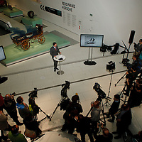 Porsche P1 launch at the Porsche Museum in Stuttgart, Germany, on 27 January 2014 with Dieter Landenberger (Manager Historical Archives)