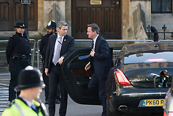 Westminster Abbey, London, March 14th 2016.  Her Majesty The Queen, Head of the Commonwealth, accompanied by The Duke of Edinburgh, The Duke and Duchess of Cambridge and Prince Harry attend the Commonwealth Service at Westminster Abbey on Commonwealth Day. PICTURED: Prime Minister David Cameron arrives.