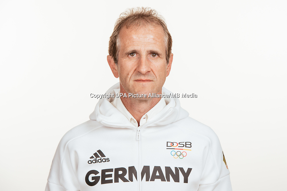 Ulf Tippelt poses at a photocall during the preparations for the Olympic Games in Rio at the Emmich Cambrai Barracks in Hanover, Germany, taken on 18/07/16   usage worldwide