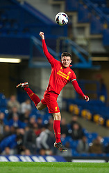 LONDON, ENGLAND - Friday, April 19, 2013: Liverpool's captain Jordan Lussey in action against Chelsea during the FA Youth Cup Semi-Final 2nd Leg match at Stamford Bridge. (Pic by David Rawcliffe/Propaganda)