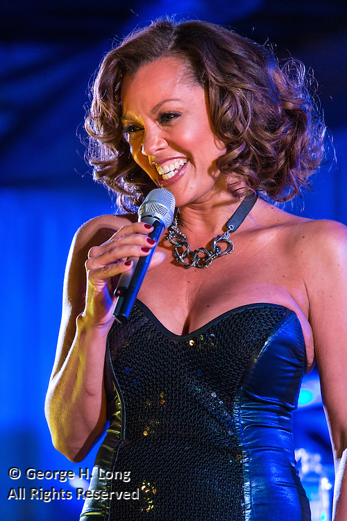 Vanessa Williams performs for the Mars M&Ms party at The Foundry for jesGordon