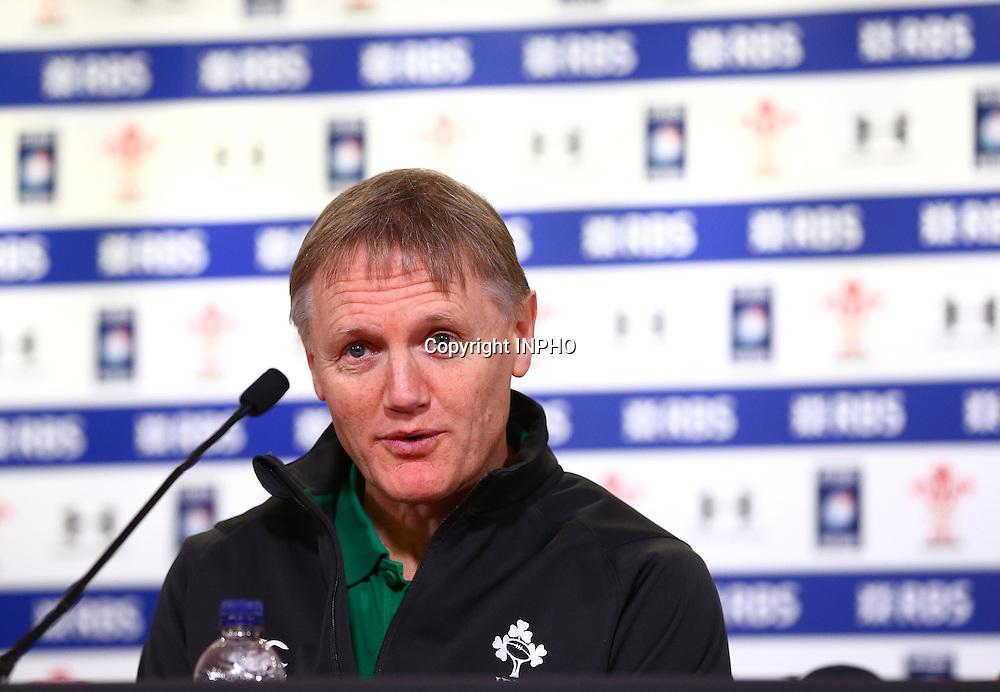 RBS 6 Nations Championship, Millennium Stadium, Wales 14/3/2015<br /> Ireland<br /> Head coach Joe Schmidt<br /> Mandatory Credit &copy;INPHO/Cathal Noonan
