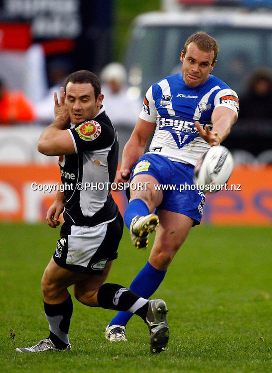 Bulldogs player Daniel Holdsworth. NRL. Vodafone Warriors v Canterbury Bulldogs, Mt Smart Stadium, Auckland, New Zealand. Sunday 12 July 2009. Photo: Simon Watts/PHOTOSPORT<br /> Editorial Use Only