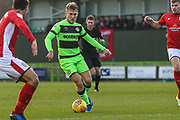Forest Green Rovers George Williams(11) on the ball during the EFL Sky Bet League 2 match between Forest Green Rovers and Crewe Alexandra at the New Lawn, Forest Green, United Kingdom on 22 December 2018.