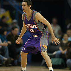 Steve Nash #13 of the Phoenix Suns on February 26, 2008 at the New Orleans Arena in New Orleans, Louisiana. The New Orleans Hornets defeated the Phoenix Suns 120-103.
