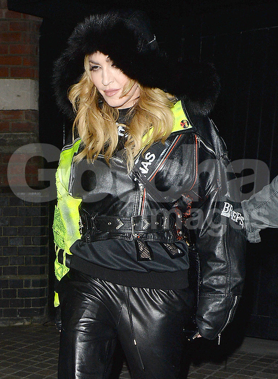 Madonna and her son Rocco enjoy a night out at the Chiltern Firehouse in London, UK. 17/04/2016<br />