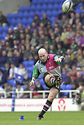14/04/2002.Sport - Rugby Union.Madjeski Stadium - Reading.Zurich Premiership.London Irish vs Harlequins.Paul Burke kicks a first half penalty...