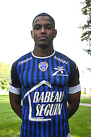 Yanis Hamzaoui during the photocall of Troyes Estac for season of ligue 2 on September 3rd 2016 in Troyes<br /> Photo : Philippe Le Brech / Icon Sport