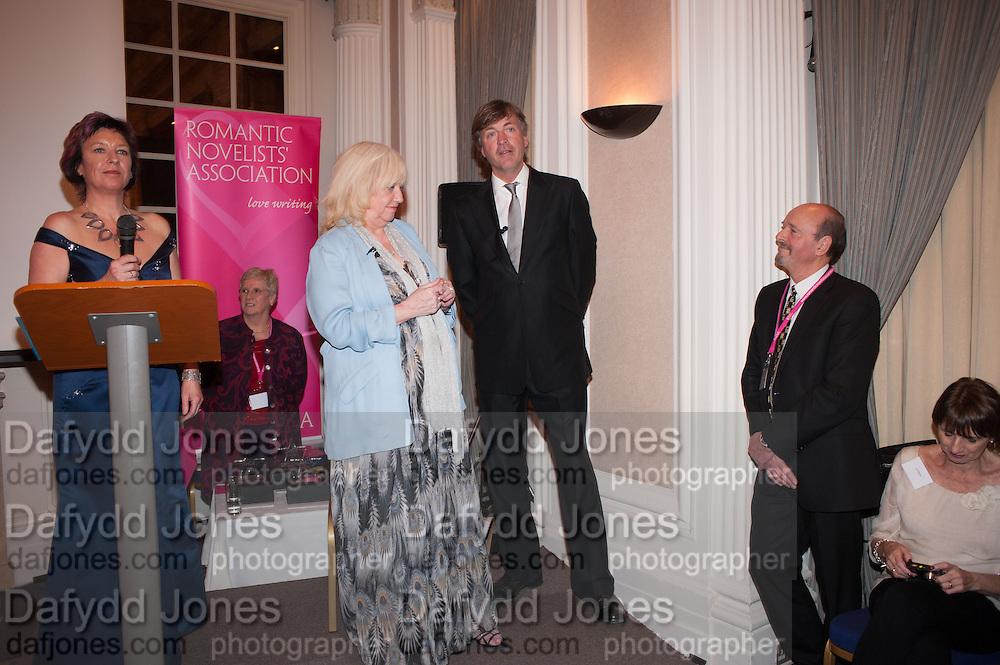 JUDY FINNIGAN; RICHARD MADELEY; TONY MULLICAN, Romantic Novelists Association The RoNas Awards - RICHARD MADELEY & JUDY FINNIGAN - ballroom of the RAF Club, 128 Piccadilly, London. 26 February 2013