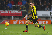 Burton Albion midfielder Tom Naylor strikes the ball and scores Burton's second goal during the Sky Bet League 1 match between Burton Albion and Bradford City at the Pirelli Stadium, Burton upon Trent, England on 6 February 2016. Photo by Aaron Lupton.