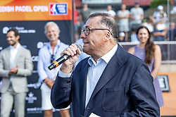 July 29, 2018 - BÅ'Stad, Sverige - 180729 Ramon Agenjo, president of the World Padel Tour, under prisutdelningen efter finalen i Swedish Padel Open den 29 juli 2018 i BÅ'stad  (Credit Image: © Christian …Rnberg/Bildbyran via ZUMA Press)