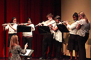 The Concert Band Flute Ensemble performs during the Fall Band Preview at Stivers School for the Arts in Dayton, Monday, November 19, 2012..