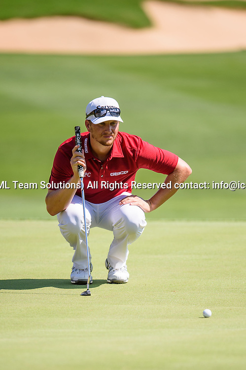 21 April 2016:  Mark Wilson during the first round of the Valero Texas Open at the TPC San Antonio Oaks Course in San Antonio, TX. (Photo by Daniel Dunn/Icon Sportswire)