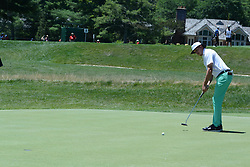 July 8, 2018 - White Sulphur Springs, WV, U.S. - WHITE SULPHUR SPRINGS, WV - JULY 08: Joel Dahmen putts for birdie on the 2nd hole during the final round of the Military Tribute at the Greenbrier in White Sulphur Springs, WV, on July 8, 2018.(Photo by Brian Bishop/Icon Sportswire) (Credit Image: © Brian Bishop/Icon SMI via ZUMA Press)