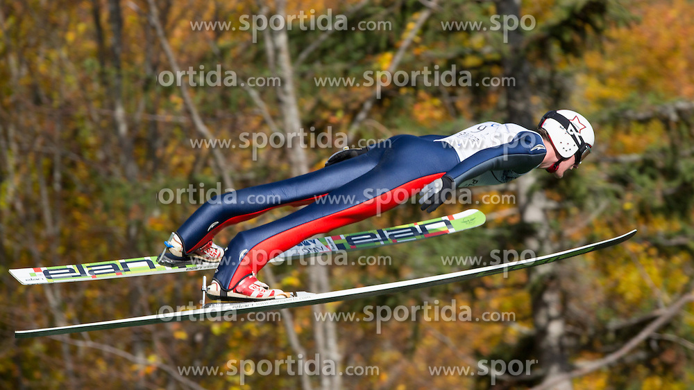 Ziga Tomazin during Slovenian summer national championship and opening of the reconstructed Bloudek's hill in Planica on October 14, 2012 in Planica, Ratece, Slovenia. (Photo by Matic Klansek Velej / Sportida)