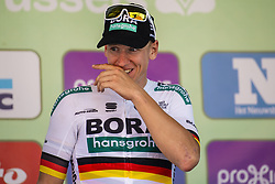 September 1, 2018 - Bruxelle, Belgique - ACKERMANN Pascal (GER) of Bora - Hansgrohe , pictured on the podium of  the Brussels Cycling Classic 2018  with start and finish in Brussels on September 01, 2018 in Brussel, Belgium, 1/09/2018 (Credit Image: © Panoramic via ZUMA Press)