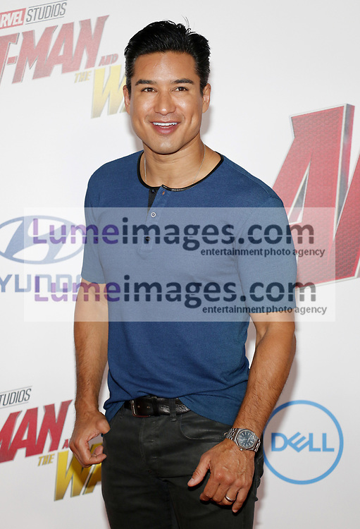 Mario Lopez at the Los Angeles premiere of 'Ant-Man And The Wasp' held at the El Capitan Theatre in Hollywood, USA on June 25, 2018.
