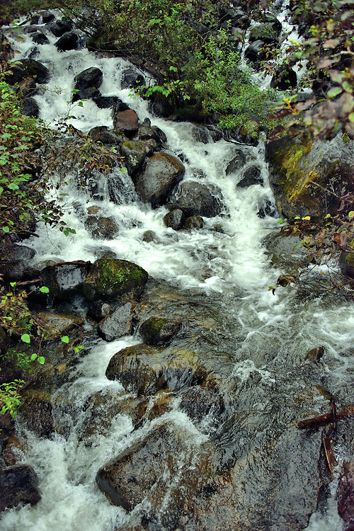 Steep Creek Waterfall near Juneau, Alaska <br />