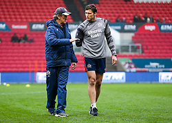 Bristol Rugby Forwards Coach Mark Bakewell and Sam Jeffries - Rogan/JMP - 28/01/2018 - RUGBY UNION - Ashton Gate Stadium - Bristol, England - Bristol Rugby v Bedford Blues - Greene King IPA Championship.