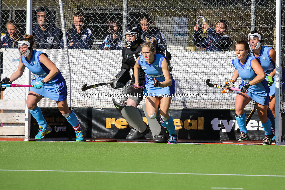 Stacey Michelsen leads the charge for Northland. NHL Womens Hockey. Northland v Midlands. Whangarei. New Zealand. 12 September 2015. Copyright Photo: Heath Johnson / www.photosport.nz