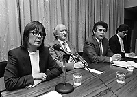 "Public Meeting on the theme ""Ireland after the Referendum, Church, State and the Republic"" organised by the Dublin Central Constituency of the Labour Party, held in the ATGWU Head Office in Middle Abbey Street, Dublin, 15/10/1986 (Part of the Independent Newspapers Ireland/NLI Collection)."