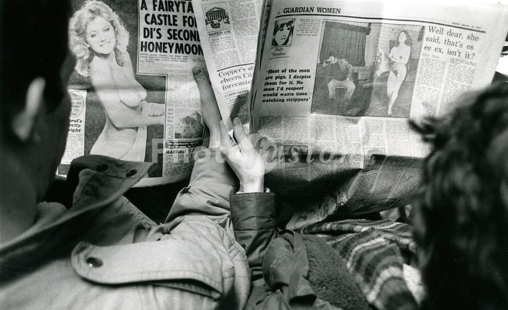 Reading the newspaper; January 10 1983