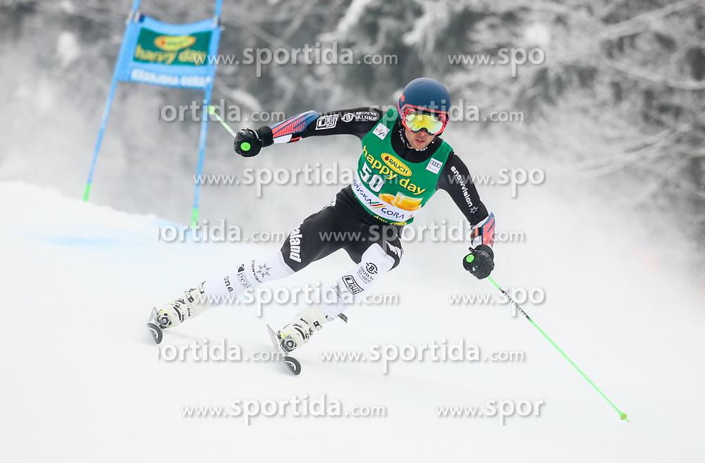 Adam Barwood of New Zeland competes during 1st run of Men's GiantSlalom race of FIS Alpine Ski World Cup 57th Vitranc Cup 2018, on March 3, 2018 in Kranjska Gora, Slovenia. Photo by Ziga Zupan / Sportida