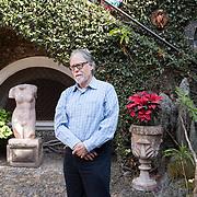 "Tepoztlán, Mexico, January 18, 2018. David Huerta, Mexican poet, son of the poet Efrain Huerta, in Tepoztlán for the Writing Master Classes & Residency ""Under The Volcano"". <br /> Tepoztlán, Messico, 18 Gennaio 2018. David Huerta, poeta Messicano, figlio del poeta Efrain Huerta, a Tepoztlán per il Writing Master Classes & Residency, ""Under The Volcano""."