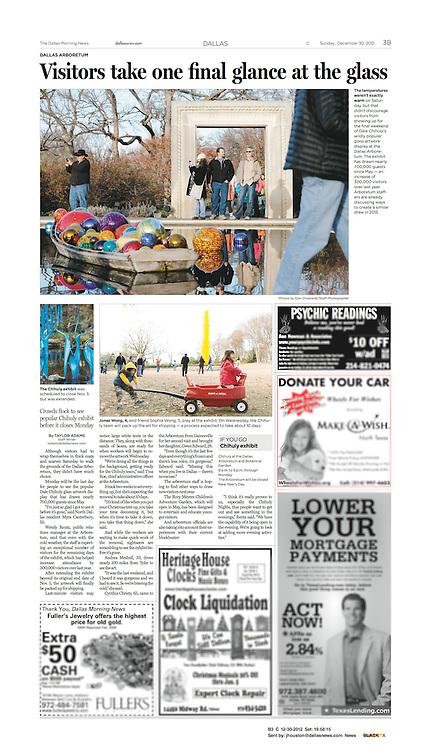 The Dallas Morning News -Metro, B3, December 30, 2012.