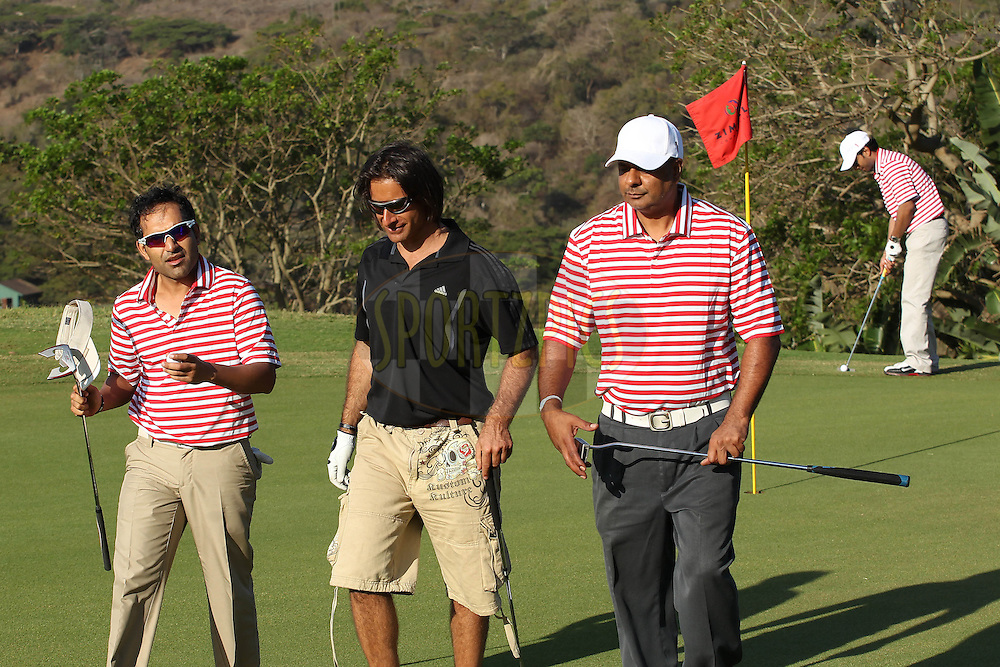 Dean Kino, Sameer Wadhwa during the Airtel CLT20 golf day held at Zimbali Country Estate outside Durban in Kwa Zulu Natal on the 23 September 2010..Photo by: Ron Gaunt/SPORTZPICS/CLT20