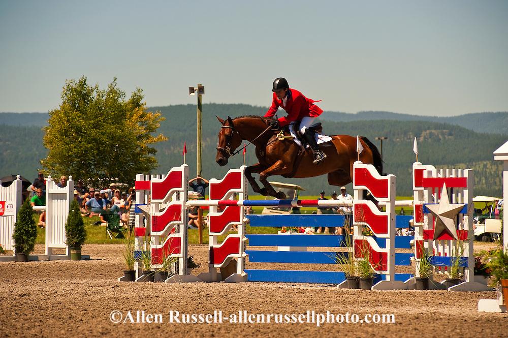 Eventing (equestrian triathlon), Show Jumping event, Rebecca Farms, HSBC FEI World Cup Eventing, Kalispell, Montana, Phillip Dutton, Irish Sport Horse