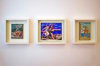 France, Paris (75), Musee Picasso, Les Baigneuses, Deux Femmes Courant sur la Plage et Baigneuse ouvrant une cabine  // France, Paris, Picasso museum