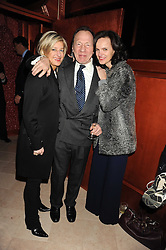 Left to right, ALISON JACKSON, ANTHONY HADEN-GUEST and BETTINA VON HASE at a party to celebrate the 10th birthday issue of Spears Wealth Management Survey held at Molton House, South Molton Street, London on 25th November 2008.