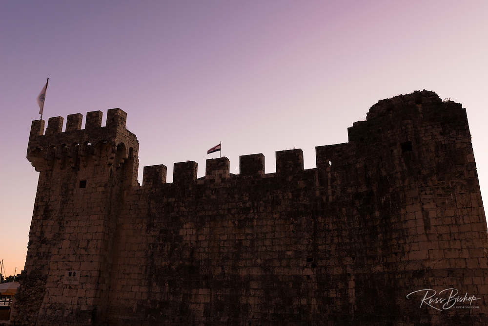 Moonrise over Kamerlengo Castle, Trogir, Dalmatian Coast, Croatia