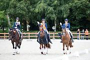 Podium Young Riders 1. Jeanine Nieuwenhuis - TC Athene, 2. Thalia Rockx - Verdi de la Fazenda, 3. Lotte Meulendijks - MDH Parole<br /> Nederlands Kampioenschap Young Riders 2016<br /> © DigiShots