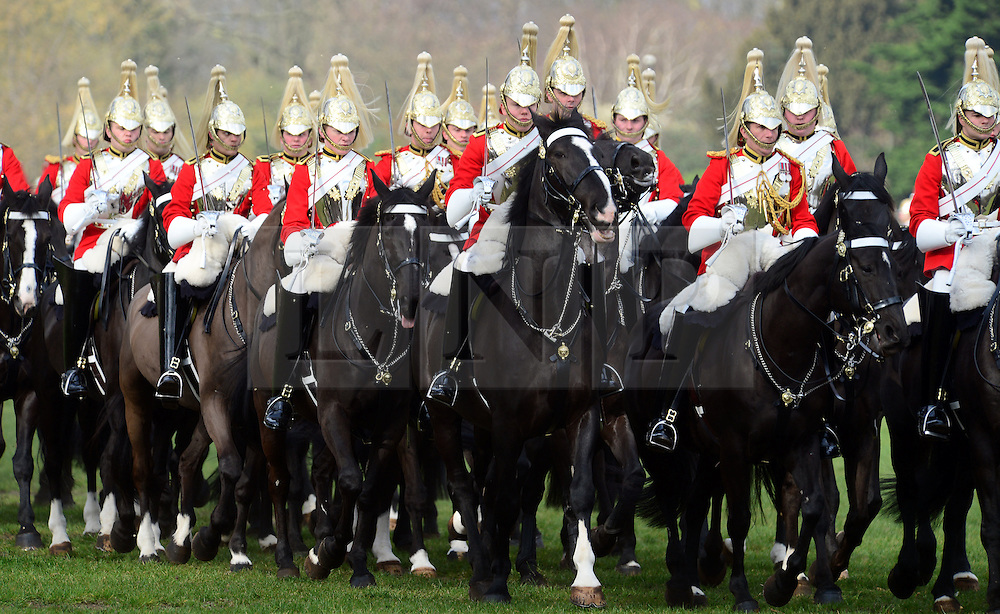 LNP Weekly Highlights 21/03/14 © Licensed to London News Pictures. 20/03/2014. London, UK. The Major General's Inspection of the Household Cavalry Mounted Regiment in Hyde Park today 20th March 2014. The unit must pass the inspection in order to participate in state ceremonial events in 2014. Photo credit : Russ Nolan/LNP