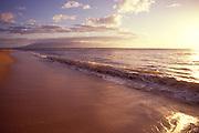 Kaanapali Beach at sunset, Maui, Hawaii<br />