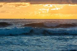 Dawn over the Atlantic Ocean at Coast Guard Beach in the Cape Cod National Seashore in Eastham, Massachusetts.