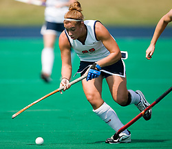 Virginia Cavaliers M/B Sara Confer (22)..The Virginia Cavaliers field hockey team fell to the Boston University Terriers 3-0 at the University Hall Turf Field in Charlottesville, VA on September 23, 2007