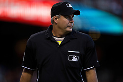 SAN FRANCISCO, CA - JULY 10:  MLB umpire Tim Timmons #95 stands on the field during the third inning between the San Francisco Giants and the Philadelphia Phillies at AT&T Park on July 10, 2015 in San Francisco, California.  The San Francisco Giants defeated the Philadelphia Phillies 15-2. (Photo by Jason O. Watson/Getty Images) *** Local Caption *** Tim Timmons