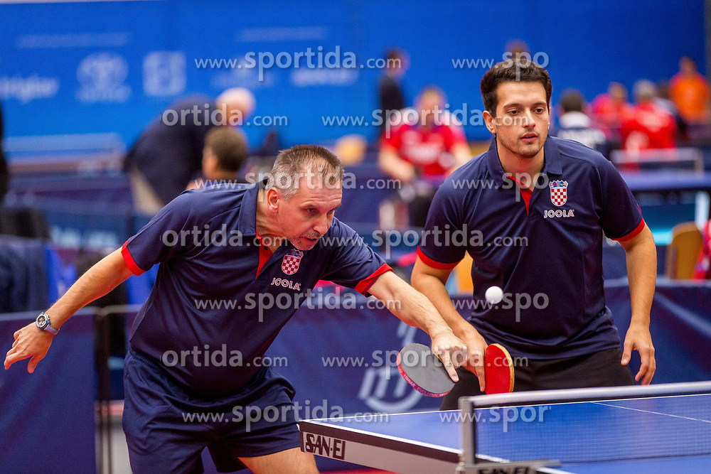 CROATIA (JOZIC Pavao and GREGOROVIC Vjekoslav) during day 4 of 15th EPINT tournament - European Table Tennis Championships for the Disabled 2017, at Arena Tri Lilije, Lasko, Slovenia, on October 1, 2017. Photo by Ziga Zupan / Sportida