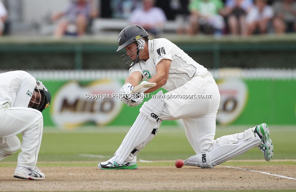 New Zealand's Ross Taylor batting on Day 1 of the 1st test match.  New Zealand Black Caps v Pakistan, Test Match Cricket. Seddon Park, Hamilton, New Zealand. Friday 7 January 2011. Photo: Andrew Cornaga/photosport.co.nz