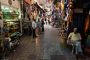 Inside the labrynth of souks in Marrakech