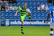 Forest Green Rovers Mark Roberts(21) controls the ball during the EFL Sky Bet League 2 match between Colchester United and Forest Green Rovers at the Weston Homes Community Stadium, Colchester, England on 26 August 2017. Photo by Shane Healey.