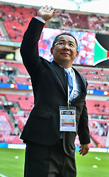 The Leicester City Chairman Vichai Srivaddhanaprabha acknowledge the Leicester city fans before the 2016 Community Shield game against Manchester United(c) Simon Kimber | SportPix.org.uk