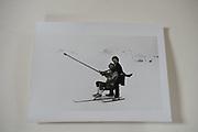 Mike Fitzroy and Hugo Spowers, , Dangerous Sports club ski race, St. Moritz. 1983.